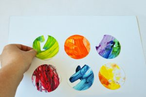 How-to-make-an-artwork-from-your-kids-finger-paintings